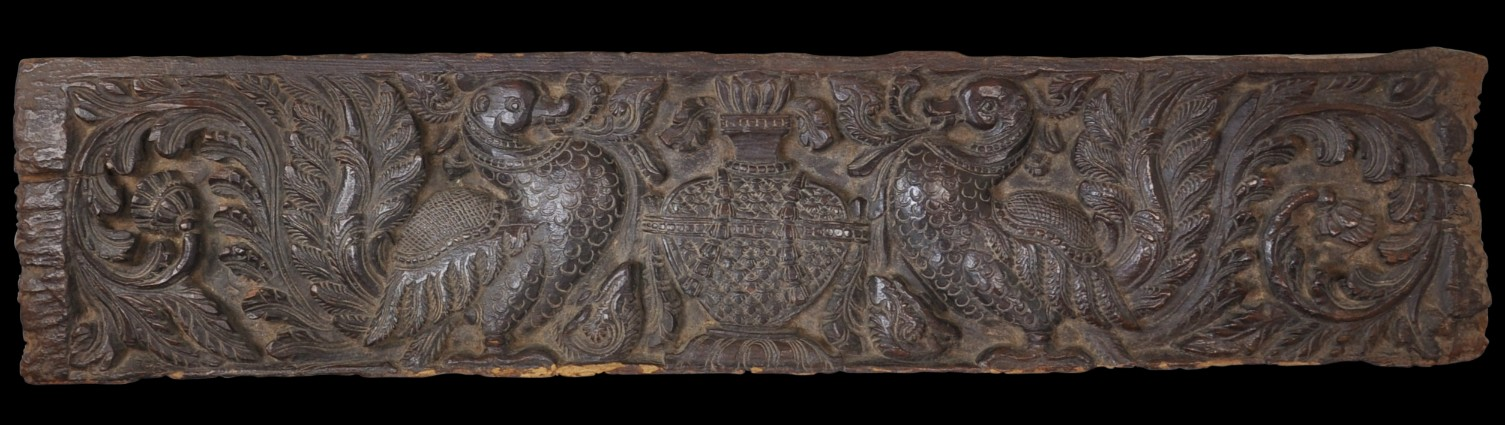 Indian Carved Wooden Lintel Panel Michael Backman Ltd
